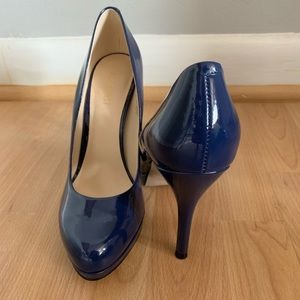 Blue Patent Leather Nine West Heels
